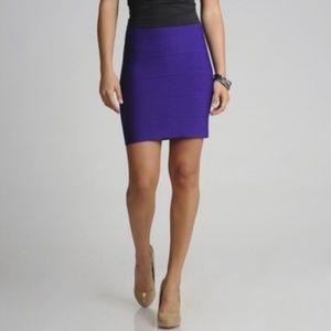 BCBG MaxAzria Purple Bandage Skirt